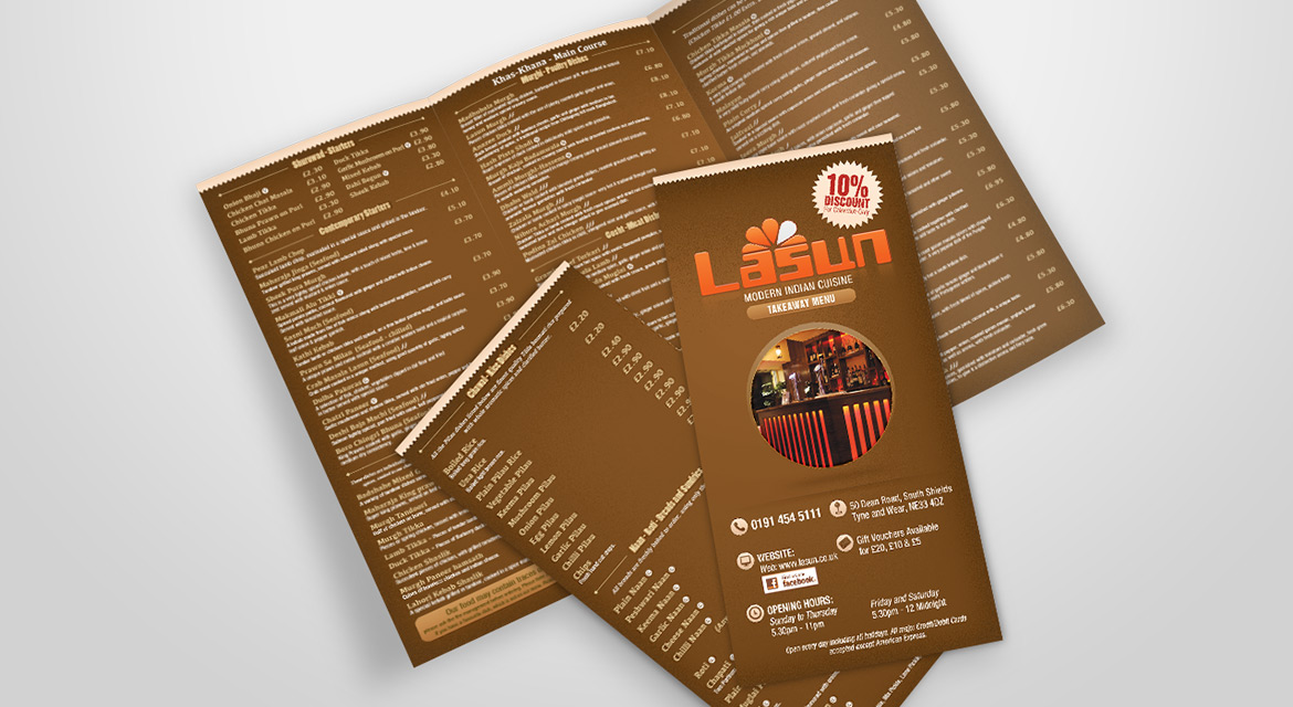 Lasun Menu Design